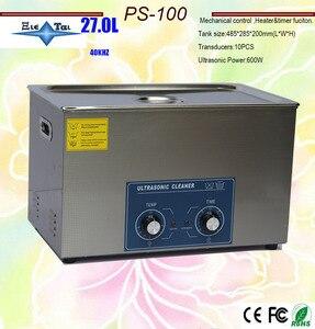 Limpiador ultrasónico de calor de 600w, 27L PS-100 el rey de la placa de circuito, equipo de limpieza de piezas de metal