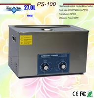 Newest 600w heat ultrasonic cleaner 27L PS 100 the king of the circuit board ,metal parts cleaning equipment