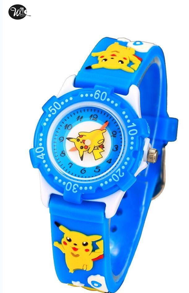 30M waterproof NEW Pikachu Cartoon 3D Children Watch best Gift kids Cute cartoon and snail kids