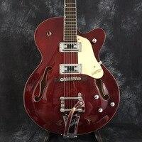 Grosso semi Cuerpo hueco inflamadas Arce Bigsby oro marrón es 335 325 345 eléctrica Guitarras Jazz Guitarras todos los colores aceptar