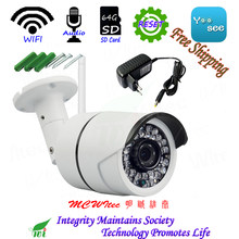Water proof Audio Camera Reset WIFI IPC HD 720P 1080P Security Camera ONVIF P2P IP Cam IR CCTV SD Card Cam RTSP Outdoor Alarm(China)