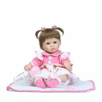 16 Inch 40 Cm Reborn Silicone Dolls Lifelike Doll Reborn Lovely Blue Eyes Beautiful Doll Festival