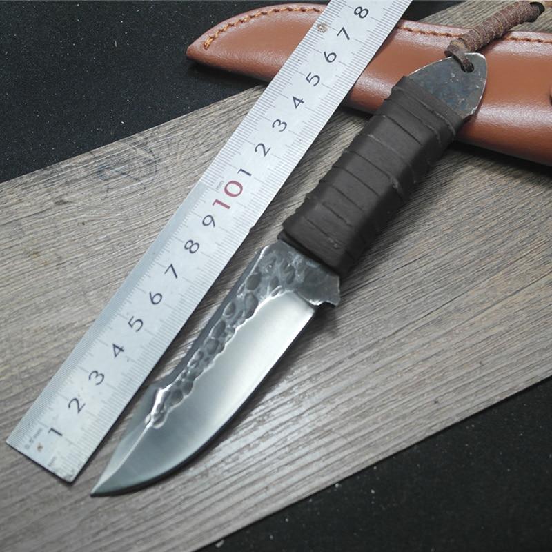 Nuovo coltello da caccia forgiato manuale sopravvivenza esterna - Utensili manuali - Fotografia 2