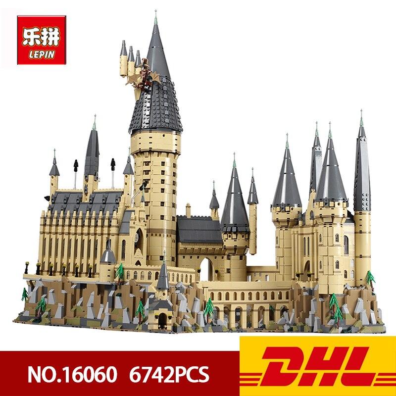 DHL Lepin Bricks 16060 6742Pcs Harry Movie Potter Series Potter Hogwarts Castle Building Blocks Kids Toys House Model Gifts