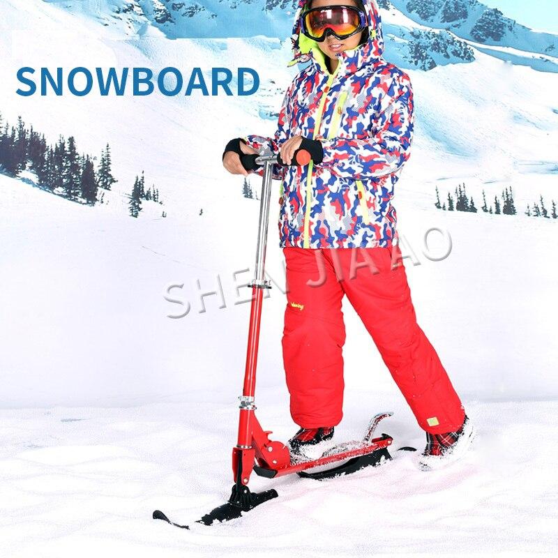 Nouvelle planche de ski de neige pliable multifonctionnelle Skibob et Scooter pour enfant et adulte planche à roulettes en plein air sport JSGM-06
