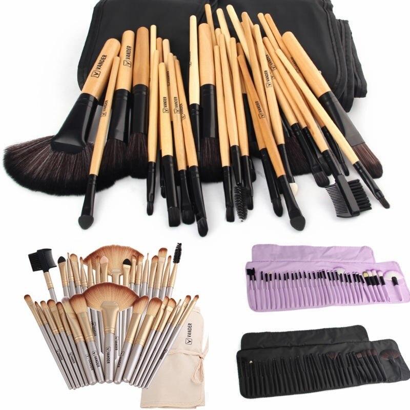 32 stücke Pinsel Set Für Professionelle Beauty Make-Up Pinsel Kosmetik Grundlage Schatten Liner Eye Concealer Make Up Kit Pouch Tasche