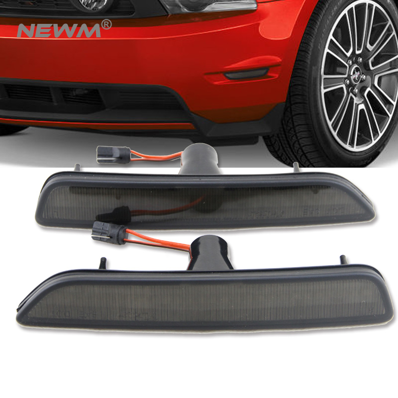 Smoke Front Amber LED Bumper Side Marker Light for For Ford Mustang 2010 2011 2012 2013 2014 ford mustang v6 2011