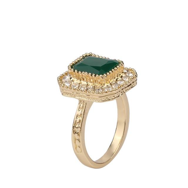 Classic Elegant Wedding Ring For Women Simple Green Black Red ...