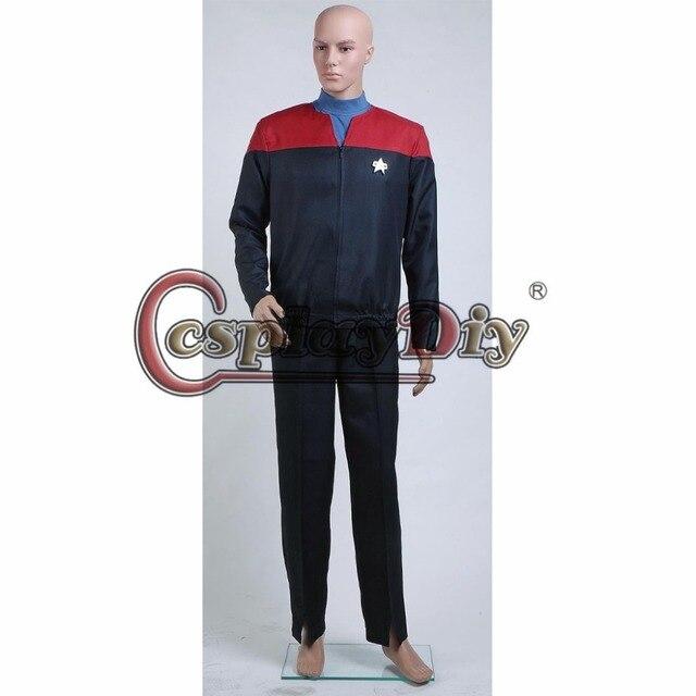 Cosplaydiy Star Trek Voyager Command Uniform Red Full Set Costume Adult Halloween Carnival Cosplay Clothes Custom  sc 1 st  AliExpress.com & Cosplaydiy Star Trek Voyager Command Uniform Red Full Set Costume ...