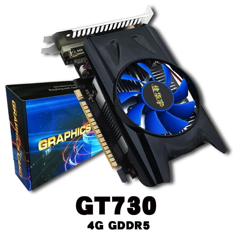 4 GB GDDR5 128Bit PCI Express Spiel Grafikkarte, Grafikkarte, 128Bit PCI Expansion Port, für GT730, mit Kühler Lüfter