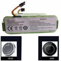 14.4 v 3.5a bateria para haier t322 t321 t320 t325/panda x500 x580/para ecovacs espelho cr120/dibea x500 x580 aspirador robótico