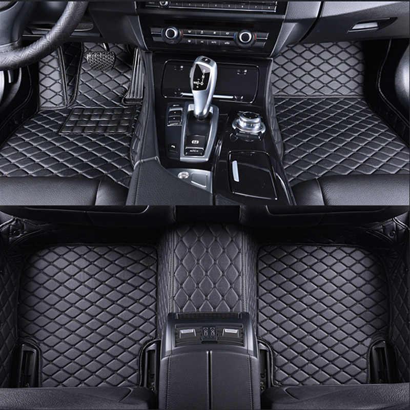 Coche tapetes para BMW e30 e39 e36 e34 e46 e60 e90 f10 f30 x1 x3 x4 x5 x6 1/2/3/4/5/6/7 accesorios de estilo de pie de