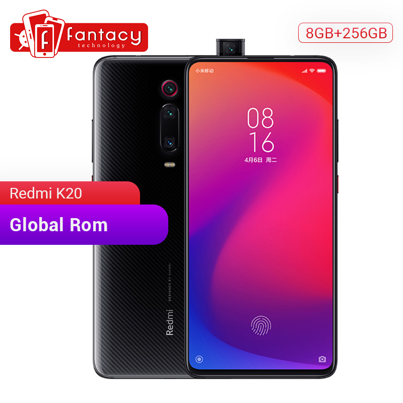 Original Xiaomi Redmi K20 Global Rom 8GB 256GB Snapdragon 730 Octa Core 6.39'' AMOLED Screen 48MP Cameras 4000mAh