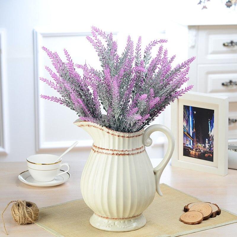 1Pcs Artificial Bouquet Lavender Fake Flowers for Wedding Party Arrangement Decorative Fake Flowers Home & Living Room Decor 75
