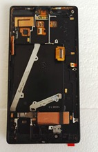For Nokia Lumia 930 Lcd Display+Touch Glass Digitizer +Gold Frame assembly Replacement screen