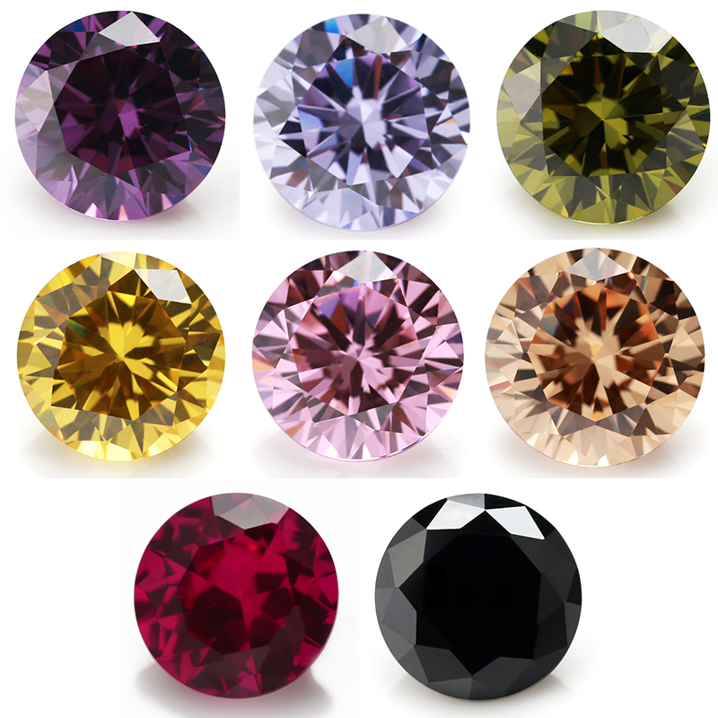 Multi Size 0.8~10.0mm 8 Colors Mix Color 50pcs Per Color Black/Pink/Purple Loose Cubic Zirconia Red 5# ...