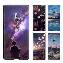 Чехол для sony Xperia XZ3, чехол для мобильного телефона, ТПУ материал, окрашенный красивый мультфильм Цвет Живопись Case.46 цветов!