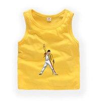 2T 9T FREDDIE MERCURY child Sleeveless T shirt Kids Baby Summer Cute Clothes Boys Girls T shirt 021