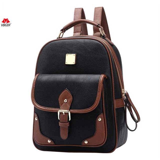 80580616944447 Vbiger PU Leather Backpack Retro School Shoulders Bag Trendy Travel  Backpacks Fashion Daypack with Solid Top Handle Hot Sale