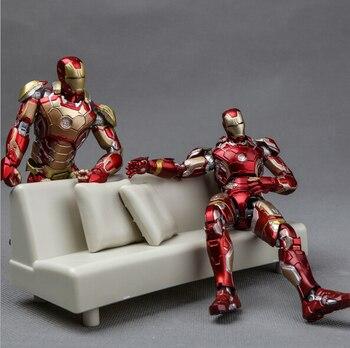 NEW hot 16 centímetros homem De Ferro avengers Super hero sofá MK43 MK42 movable Action figure coleção de brinquedos de presente de Natal com caixa