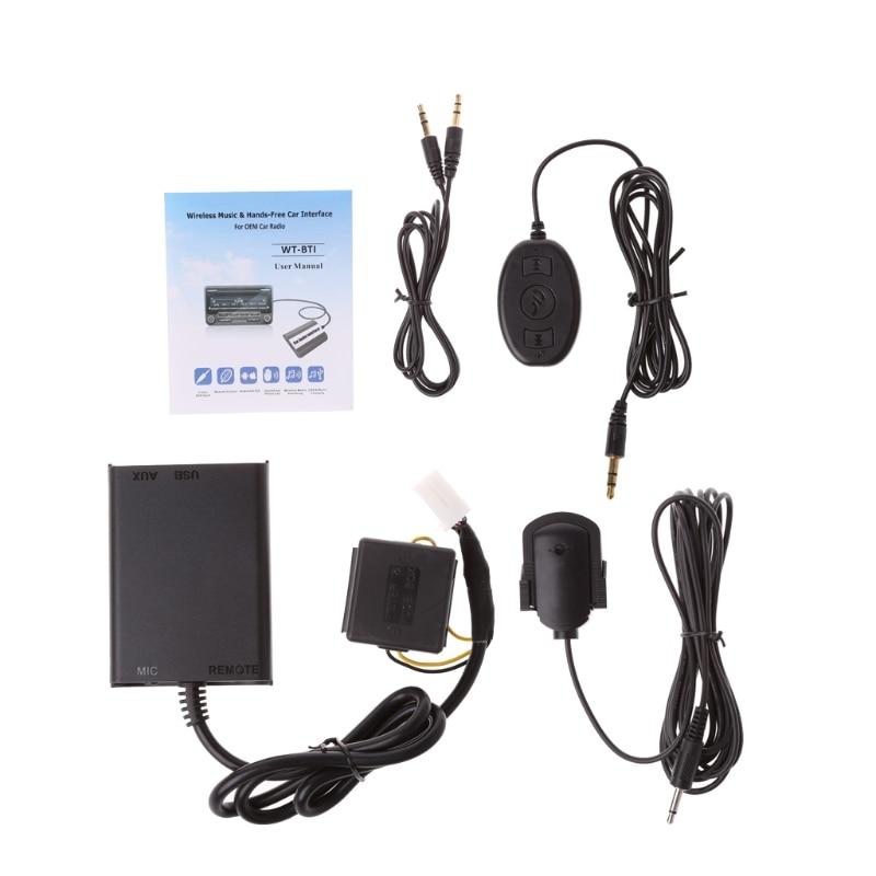Kits Bluetooth mains libres Auto Interface adaptateur stéréo AUX pour Honda Civic Accord Kit voiture Bluetooth style voiture