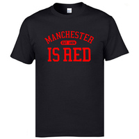 2017 Summer United Kingdom Manchester Is Red Printed Men T Shirt Plus Size 100 Cotton High