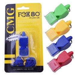 1 pçs fox80 apito sem sementes de plástico apito profissional futebol árbitro apito basquete 4 cores apito