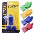 1 unids FOX80 silbato sin semillas silbato plástico de fútbol profesional árbitro silbato de baloncesto árbitro 4 colores silbato
