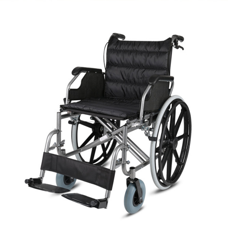 seat width 56cm big seat width capacity 150kg High quality folding manual wheelchair for elderly