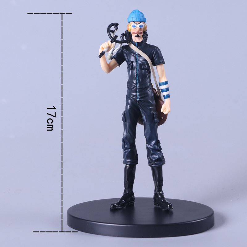 Anime new 17cm black Usopp pvc action figure <font><b>one</b></font> <font><b>piece</b></font> <font><b>Luffy</b></font> action figure collection gift juguetes brinquedos hot sale image