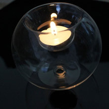 Portable Classic Glass Ball Candle Holder