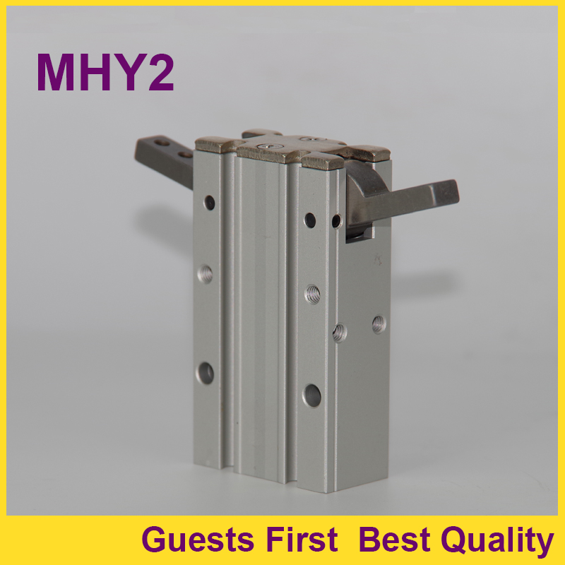 Double Acting 180 Angular Air Gripper Aluminium Clamps Pneumatic Gripper Cylinder MHY2-10D MHY2-16D MHY2-20D MHY2-25D MHY2-32D mhc2 10d angular style double acting air gripper standard type smc type pneumatic finger cylinder