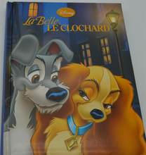 Parent child kids baby classic bedtime story DISNEY La Belle et LE CLOCHARD picture cardboard French Book Age 2-12(China)