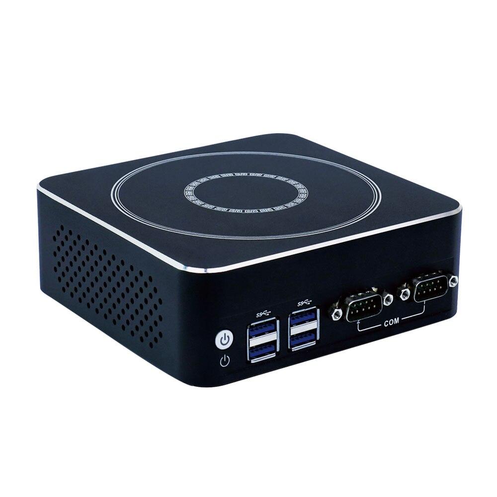 Ordinateurs de bureau de mode Minisys Skylake Core i5 7200U Client mince Nettop HTPC Mini PC avec emplacement SIM pour Windows 7 8 10