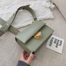 캔디 색상 여성을위한 작은 사각형 가방 2020 새로운 고품질 PU 가죽 숙녀 디자이너 핸드백 여성 어깨 간단한 가방