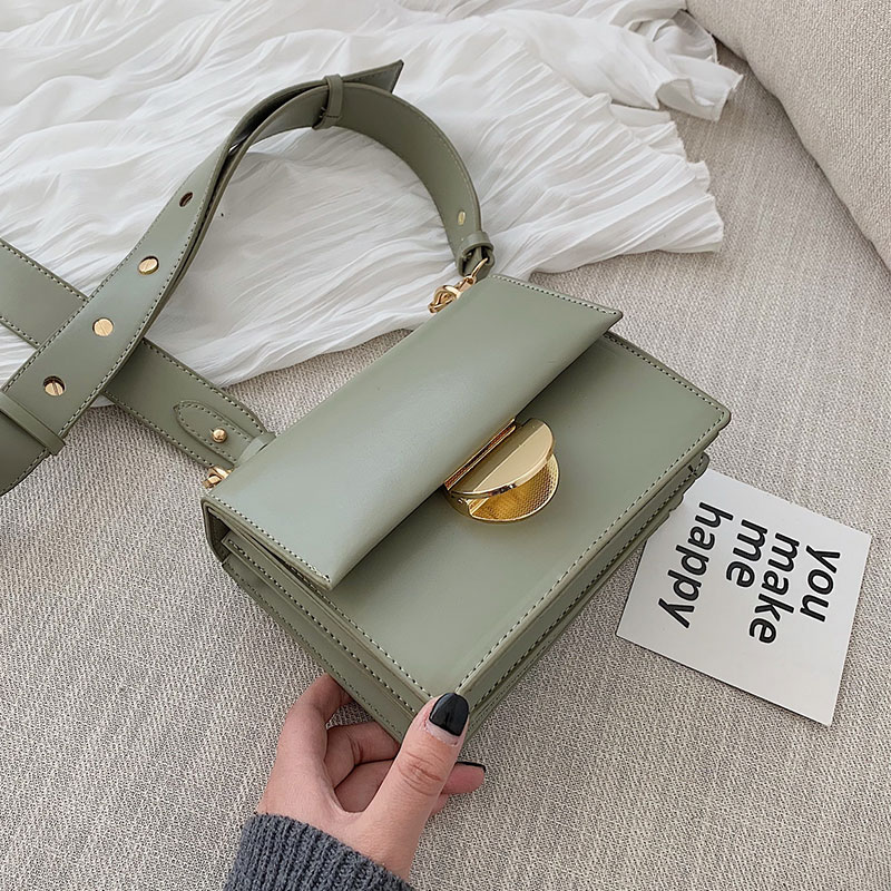 Candy Color Small Square Bag For Women 2020 New High Quality PU Leather Ladies Designer Handbags Female Shoulder Messenger Bags