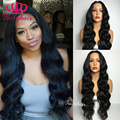 Fashion Natural lace front wig glueless body wave heat resistant synthetic lace front wig for black women synthetic wigs