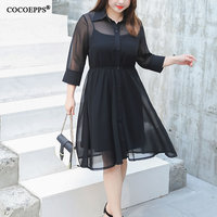 2018 Elegant Plus Size Women Suit Dress New Black Big Size Summer Clothing Chiffon 2pcs Dress Evening Large Size 4XL Vestidos