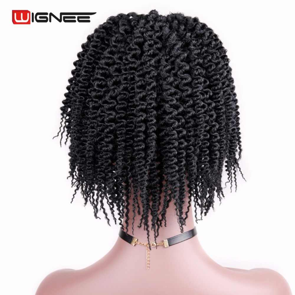 Wignee Synthetic Fiber Curly Senegalese Twist Hair Extensions For Black Women False Hair Crochet Twist Braiding Hair Bundles