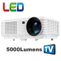The cheapest 5000lumens 1080P portable movie LED digital HD TV home video USB HDMI LCD Projector proyector beamer white color