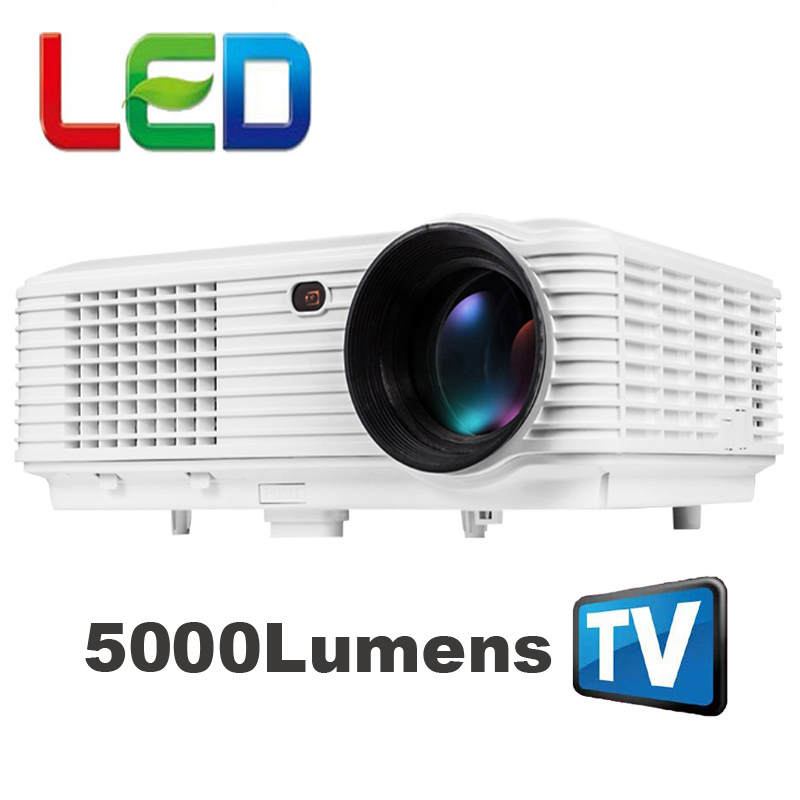 WZATCO cheapest 5000lumens 1080P portable movie LED digital HD TV home video USB HDMI LCD Projector proyector beamer white color everyone gain video projector 3000 lumens highlight build in speaker android 4 2 support 1080p movie proyector tl300