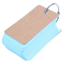2pcs Binder Ring Easy Flip Flash Cards Study Cards, 100 Blank Pages addition 52 flash cards