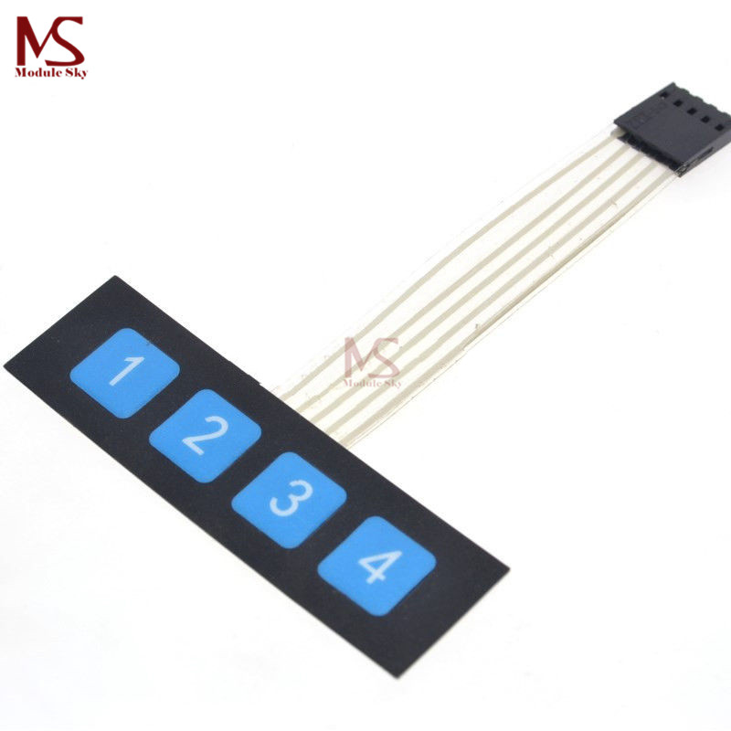 100% Quality 1x4 4 Key Matrix Membrane Switch Keypad Keyboard Control Panel Scm Extended Keyboard Super Slim Controller For Arduino 1*4