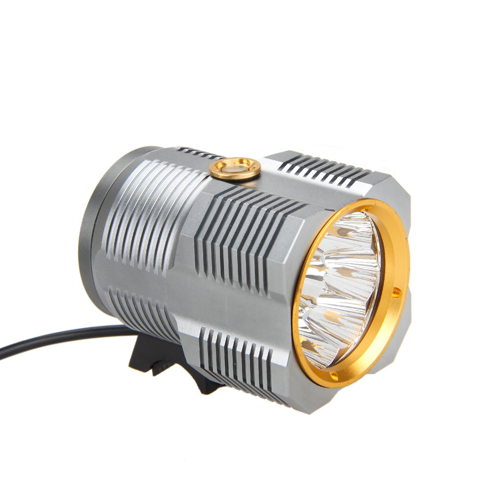 ФОТО Super Bright 15000lm 8x R8 LED Head Front Bicycle Light Bike Torch 4X18650