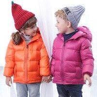 Boy Girl Down Jacket Winter Kids Coat Infantil Fashion Children Clothing Baby Hooded Children Outerwear Thicken Clothes
