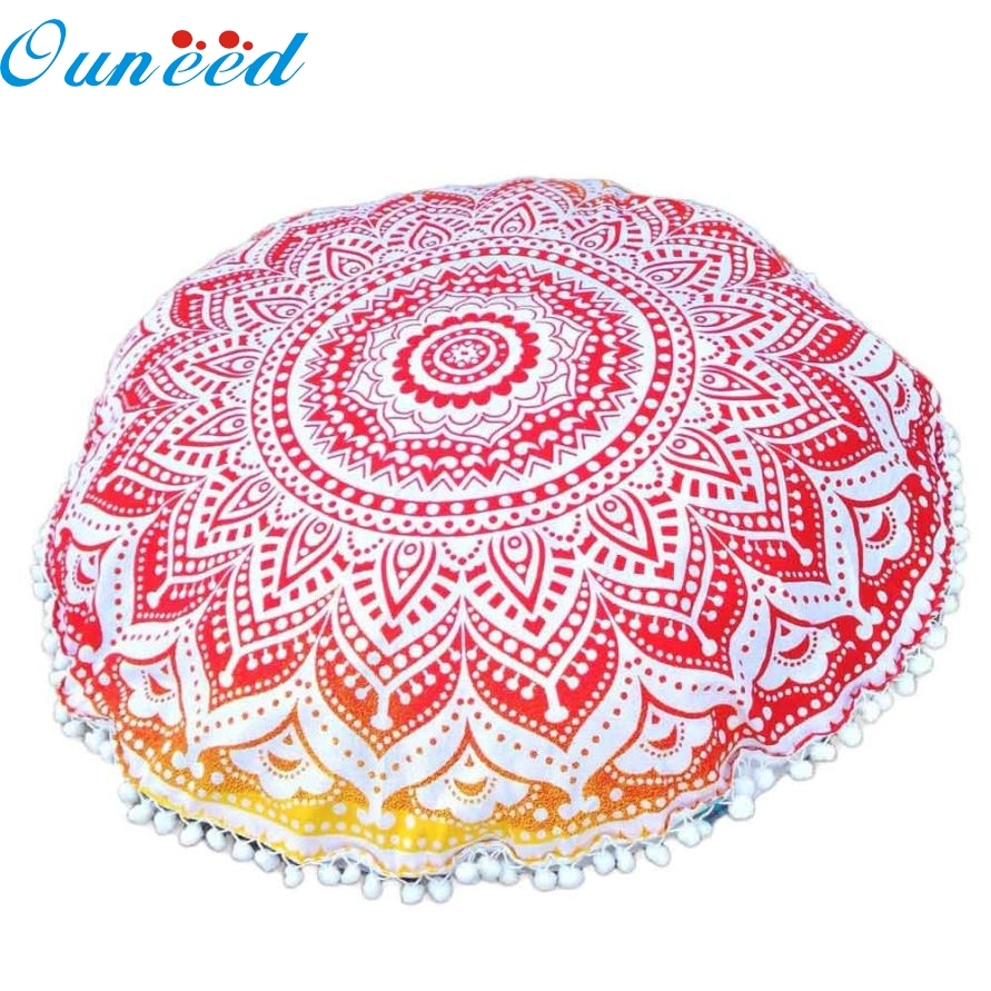 Indian Large Mandala Floor Pillows Round Bohemian Pillowcase Cushions Cove Home Decor jan10