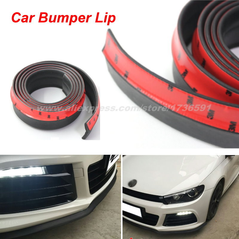 Bumper Lip Deflector Lips For Volkswagen VW Polo 2002~2015 / Front Spoiler Skirt For Auto to Car Tuning View / Body Kit / Strip