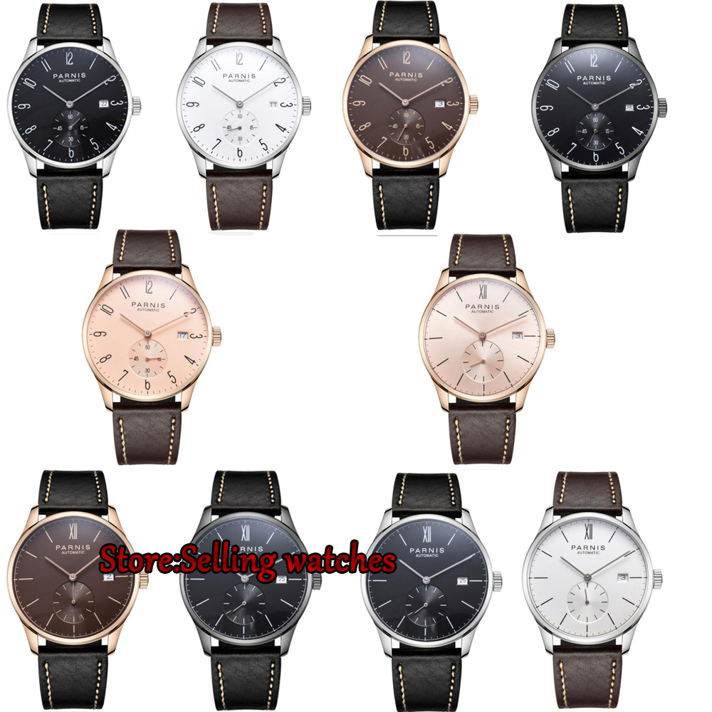 42mm parnis white dial Arabic Numerals date window ST1731 automatic mens watch шкаф духовой electrolux eob 55450 ax