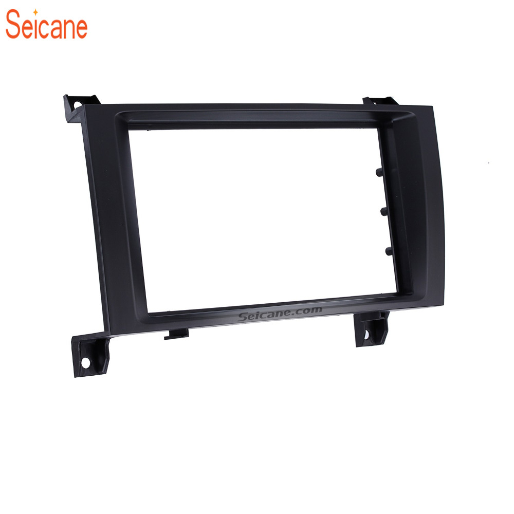 Seicane Double Din Black Car Radio Fascia Frame For Mercedes BENZ SLK R171 2004 2011 Dashboard