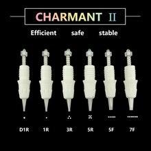 10 PCS 1R/D1R/3R/5R/5F/7F 일회용 문신 영구 메이크업 바늘 팁 눈썹 립 카트리지 바늘 적용 CHARMANT 2